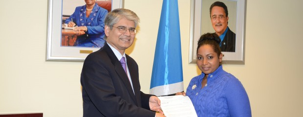 Government of India gives Donation towards Saint Lucia's Ongoing Storm Recovery Efforts