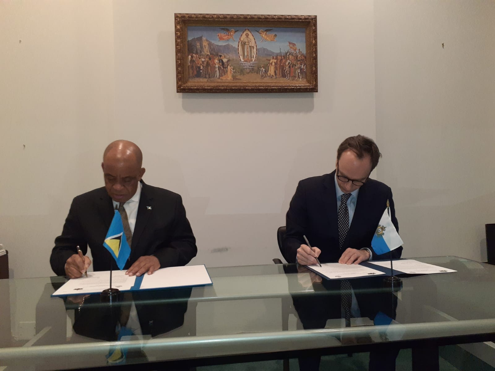 Feb. 7, 2020-Saint Lucia signs Agreement with the Republic of San Marino